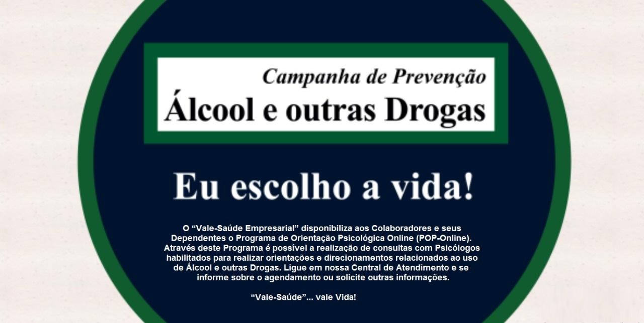 Campanha de Prevenção ao Álcool e outras drogas