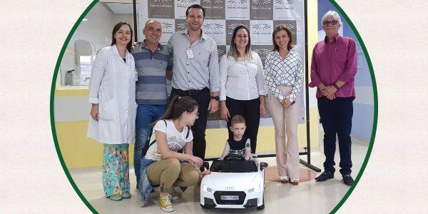 O Vale Saúde de Presidente Prudente faz doação de brinquedo para HAC