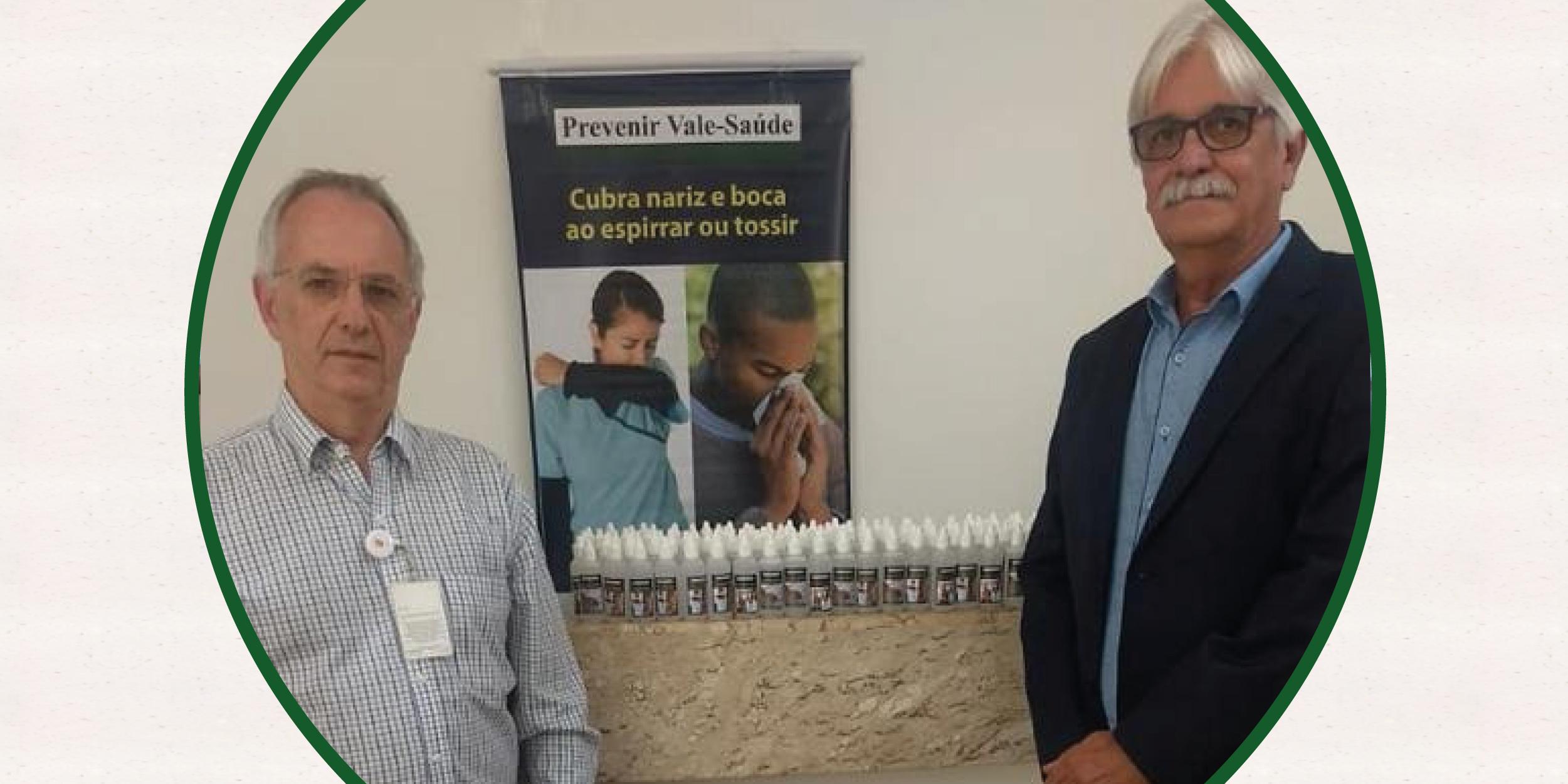 Em parceria,  Vale-Saúde Empresarial  realiza doação de 2 mil frascos de álcool em gel para o Hospital Amaral Carvalho, em Jaú-SP.